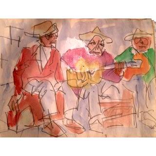 Three Cuban Musicians Painting by David Derish