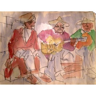 Three Cuban Musicians Painting by David Derish