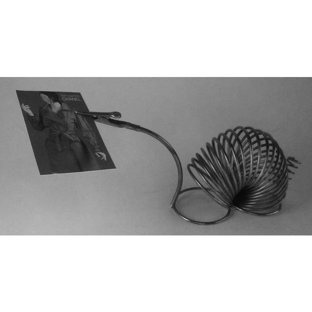 Brass Snail Slinky Memo Holder Paper Clip - Image 3 of 6