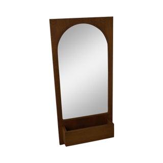 Paul McCobb Style Mid-Century Modern Walnut Wall Mirror