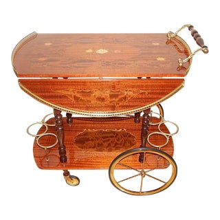 Italian Marquetry Bar Cart