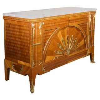 Art Deco Custom Quality Marble Top Commode