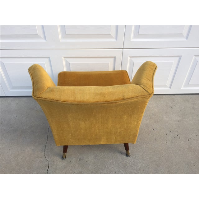 Mid Century Yellow Floating Lounge Chair - Image 9 of 11