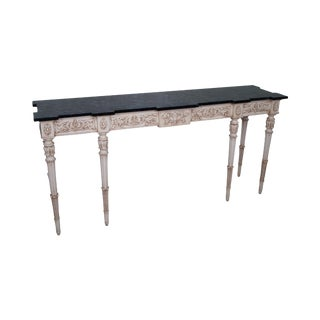 Karges Louis XVI Style Faux Marble Painted Console Table