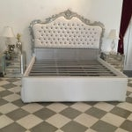 Image of French Upholstered Bed King Size Rococo Baroque Style