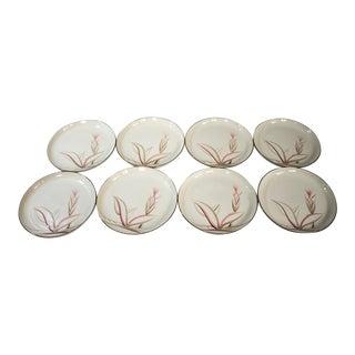 "Vintage ""Dragon Flower"" Winfield Dinner Plates - Set of 8"
