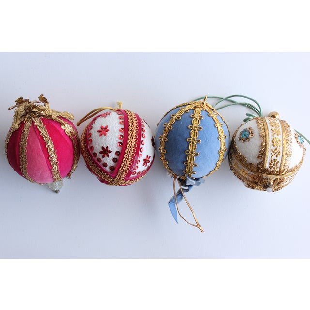 Vintage Hand-Beaded Christmas Ornaments - Set of 8 - Image 5 of 5