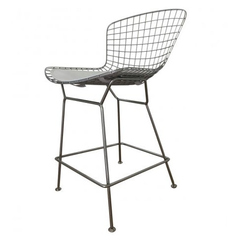 Bertoia-Style Wire Counter Stool - 5 Available - Image 5 of 7
