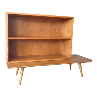 Paul McCobb Bookcase/Hutch on Low Table