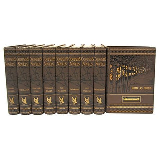 1883 James Fenimore Cooper Novels - Set of 9