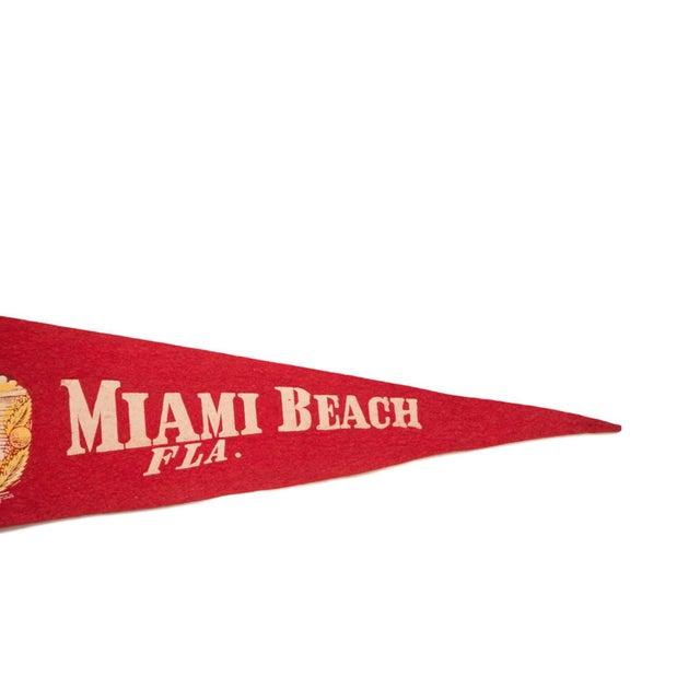 Miami Beach Florida Alligator Palm Trees Felt Flag Chairish