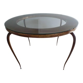 Delicate French 40's Gilt Iron Cocktail Table by Rene Prou