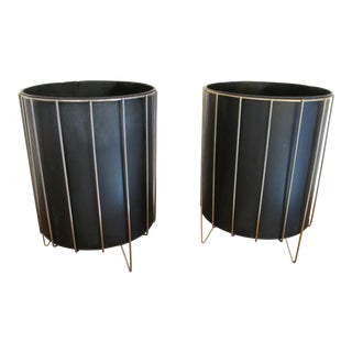 Waste Baskets by Richard Galef for Ravenware - A Pair