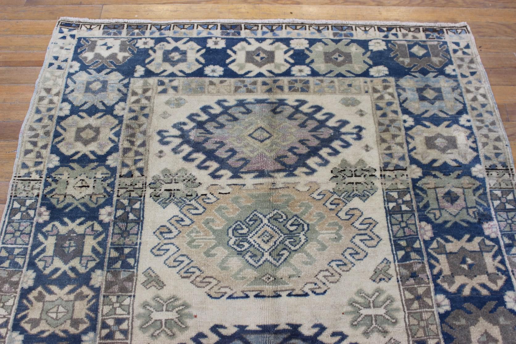 Oriental Turkish Yayla Rug - 4.3' x 6.4' | Chairish