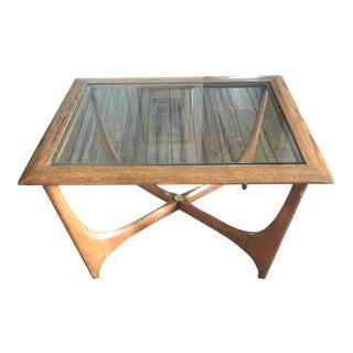 Lane Walnut Glass End Table