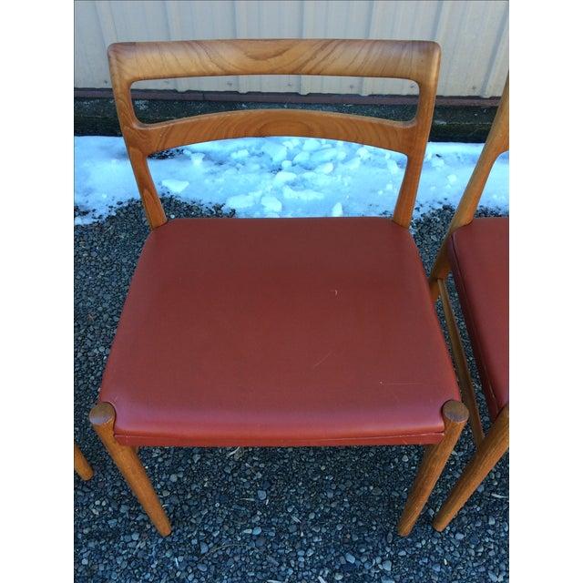 Image of Danish Modern Teak Dining Chairs - Set of 6