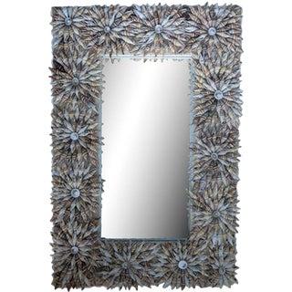 Indonesian Glass & Shell Rectangular Mirror