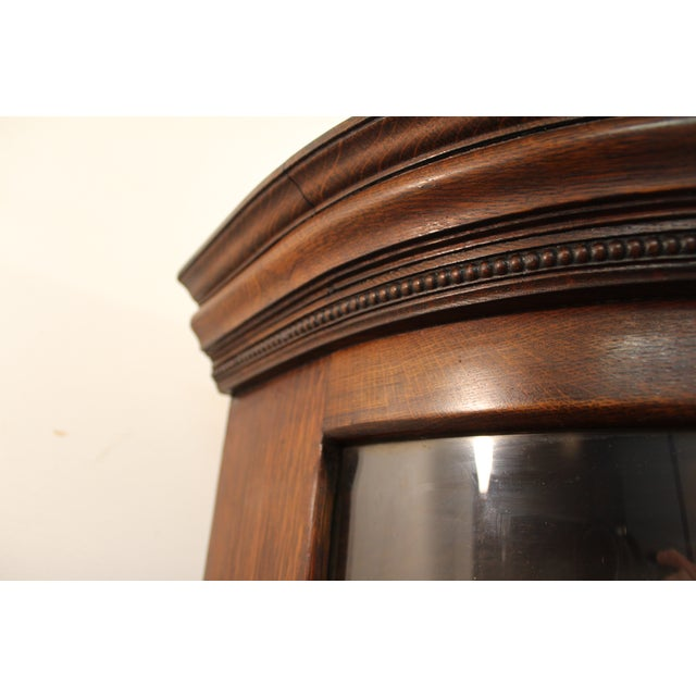 Antique Oak Barley Twist Ball Claw China Cabinet - Image 8 of 11