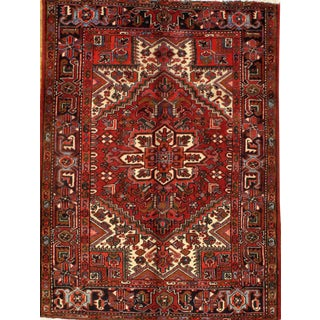 """Pasargad N Y Hand-Knotted Persian Heriz Rug - 4'10"""" X 6' 7"""""""