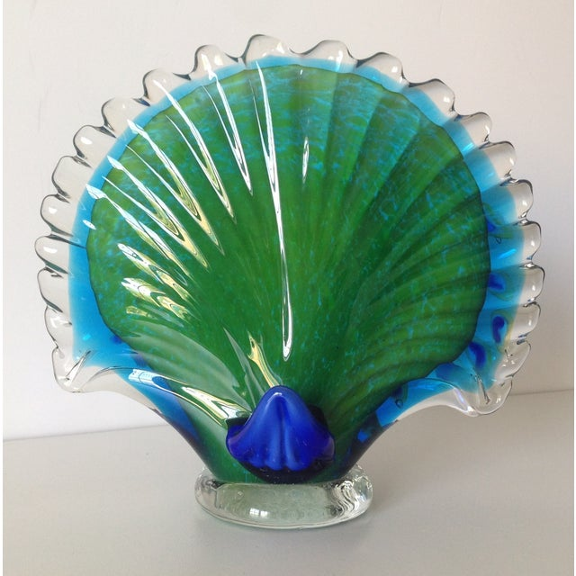 Italian Murano Handblown Peacock - Image 7 of 9