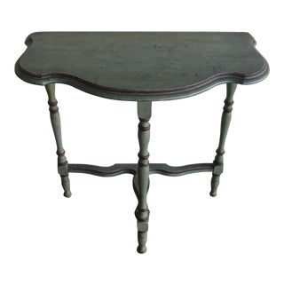 Scalloped Edge Painted Demi Lune Table