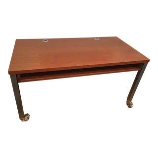 DWR Wood & Metal Rolling Desk