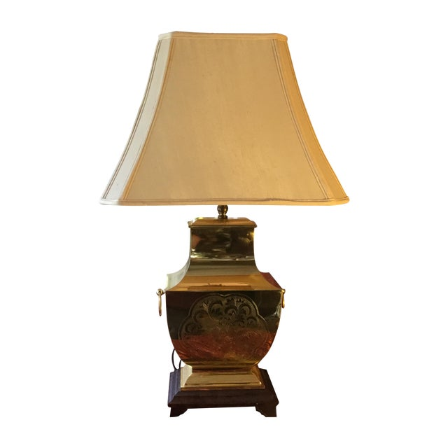 Mid-Century Modern Asian Brass Table Lamp - Image 1 of 11