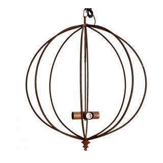 Mid Century Iron Sphere Light Fixture