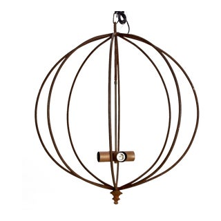 Mid Century Iron Sphere Light Fixture