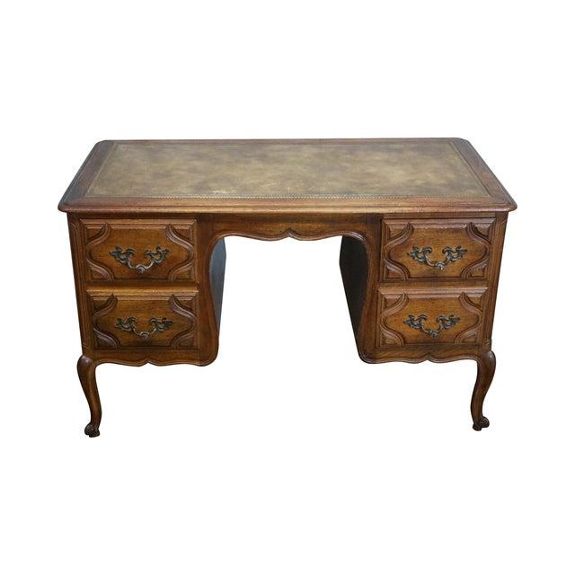 Vintage French Provincial Walnut Desk - Image 1 of 10