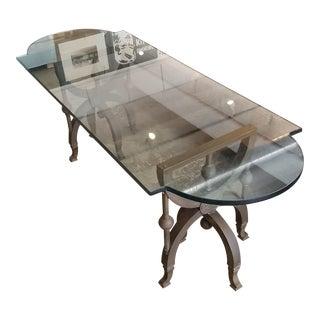 Vintage Brass Legged Coffee Table