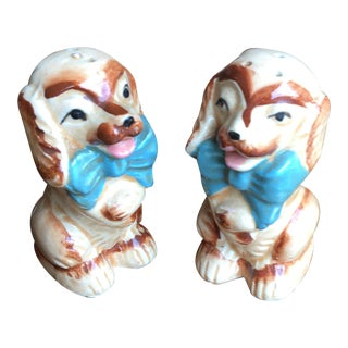 Vintage Cocker Spaniel Salt & Pepper Shakes - A Pair