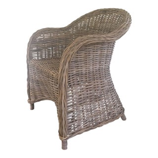 Flaired Skirt Wicker Dining Chairs - Set of 4