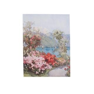 1905 Ella du Cane Print, Azaleas, Lago di Como