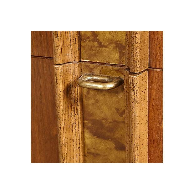 Image of 1960s Burlwood-Accented Walnut Dresser