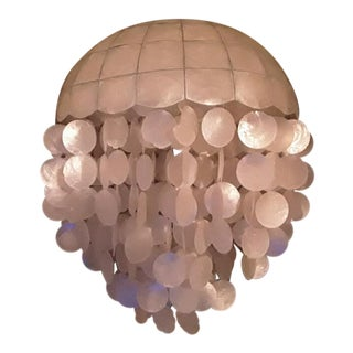 Hollywood Regency Capiz Shell Chandelier