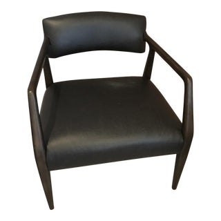 Black Leather 'Tyler' Chair