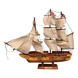 Vintage USS Constitution Miniature Sale Boat Model