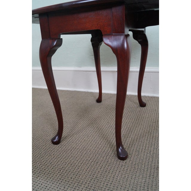 Image of Hickory Chair Mahogany Queen Anne Drop Leaf Table