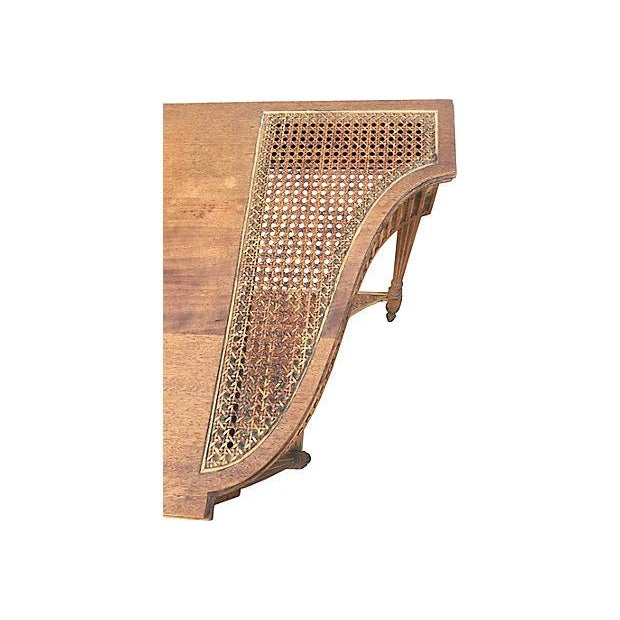 Image of Caned Mahogany Console