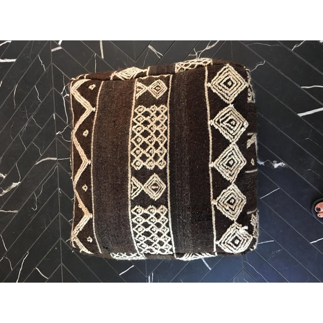 Moroccan Boho Chic Floor Pouf - Image 2 of 4
