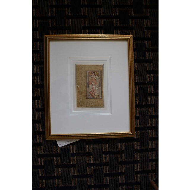 Image of McGuire Gold Framed Painted Artifact McGuire