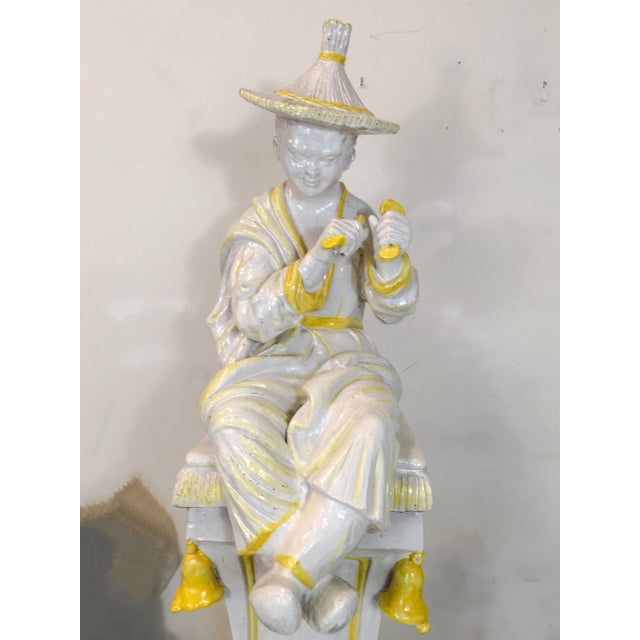 Palm Beach Style Chinoiserie Statue - Image 4 of 7
