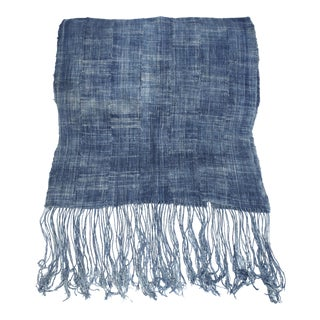 Vintage Indigo Textile Scarf/Table Runner