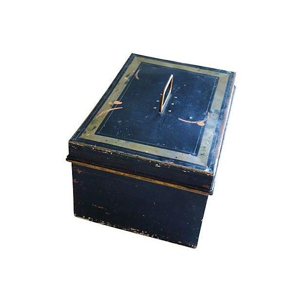 Antique Tin Document Box - Image 6 of 6