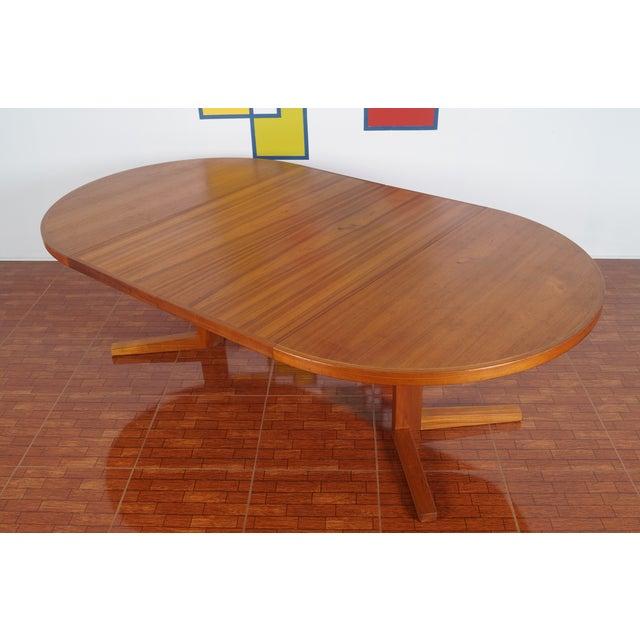 Image of Danish Modern Teak Dining Table & Two Leaves
