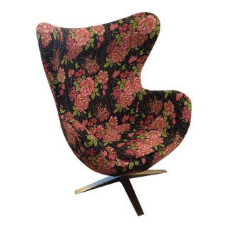 Kantha Fabric Egg Chair