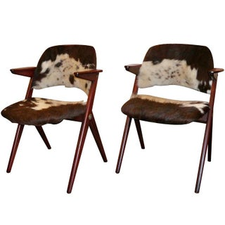Pair of Modernist Arm Chairs by Elias Svedberg, Sweden circa 1958