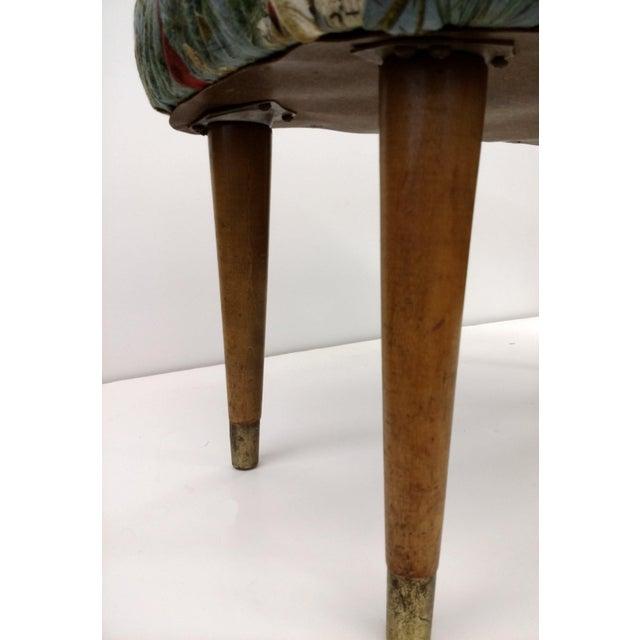 Image of Mid-Century Cardinal Upholstered Stool
