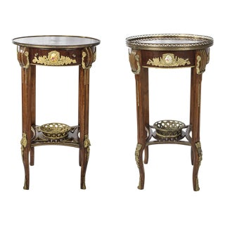 Louis XV French Ormolu Side Table - A Pair
